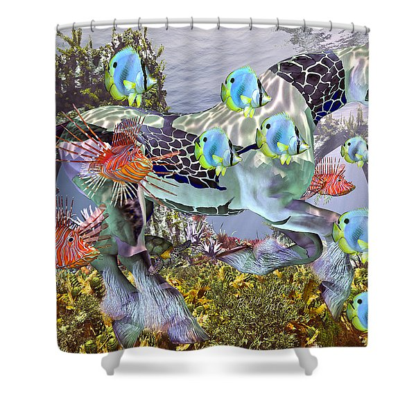 Common Ground Shower Curtain by Betsy C  Knapp