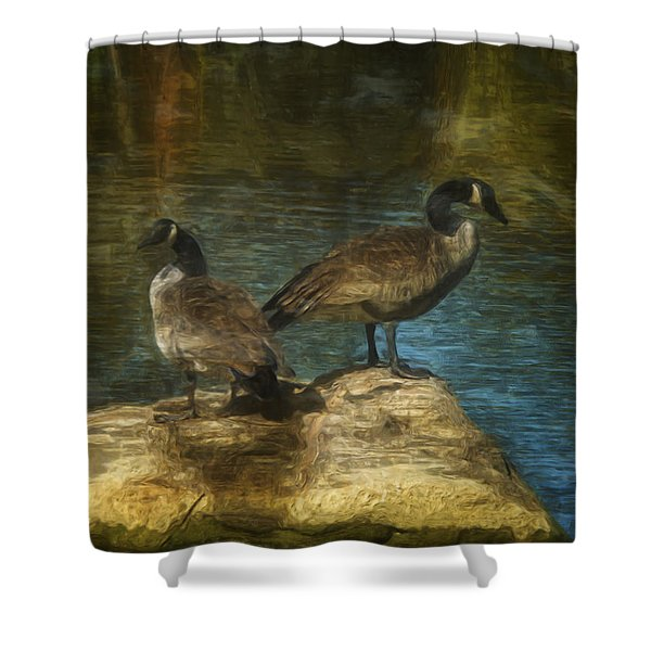 Companions Shower Curtain by Jack Zulli