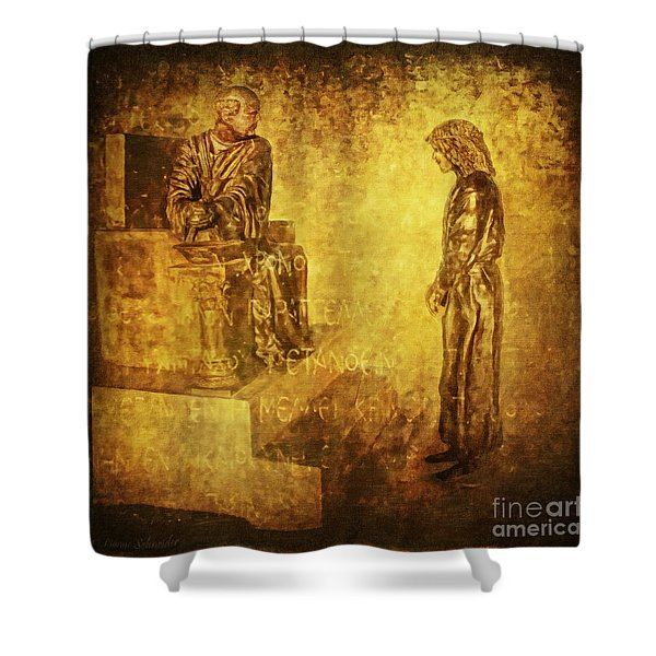 Condemned Via Dolorosa1 Shower Curtain by Lianne Schneider