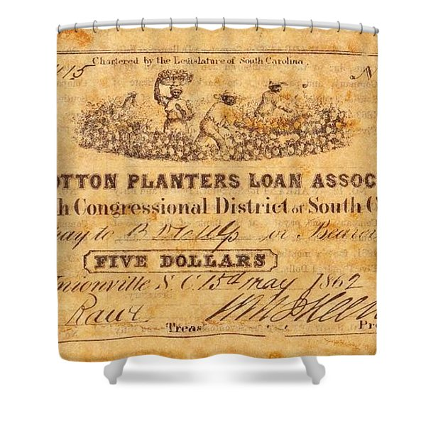 Confederate Money 10 Shower Curtain by Todd and candice Dailey