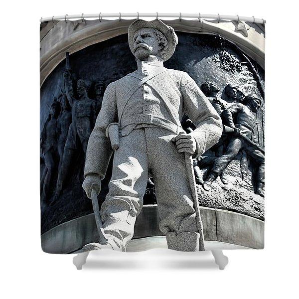 Confederate Soldier II Alabama State Capitol Shower Curtain by Lesa Fine