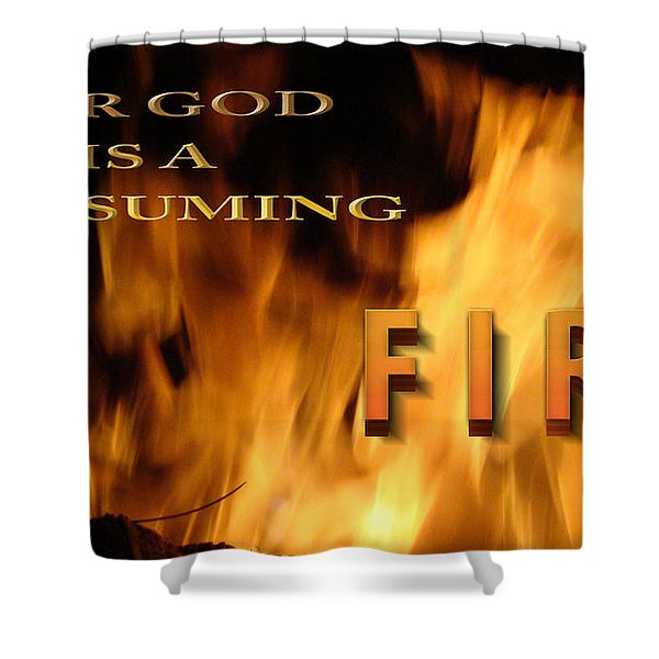 Consuming Fire Shower Curtain by Beverly Guilliams