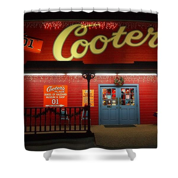 Cooters At Christmas Shower Curtain by Dan Sproul