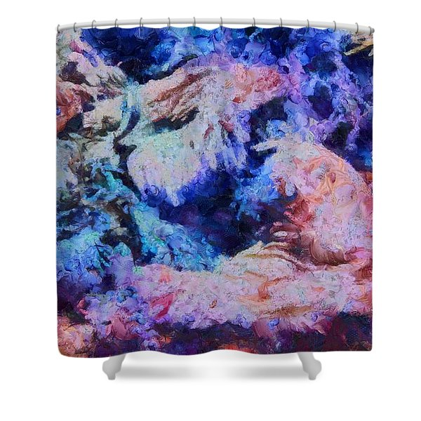 Coral Heaven Shower Curtain by Dan Sproul