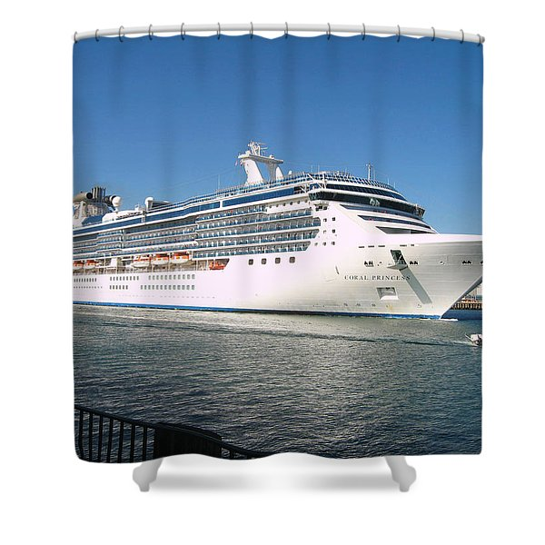 Coral Princess Shower Curtain by Shoal Hollingsworth