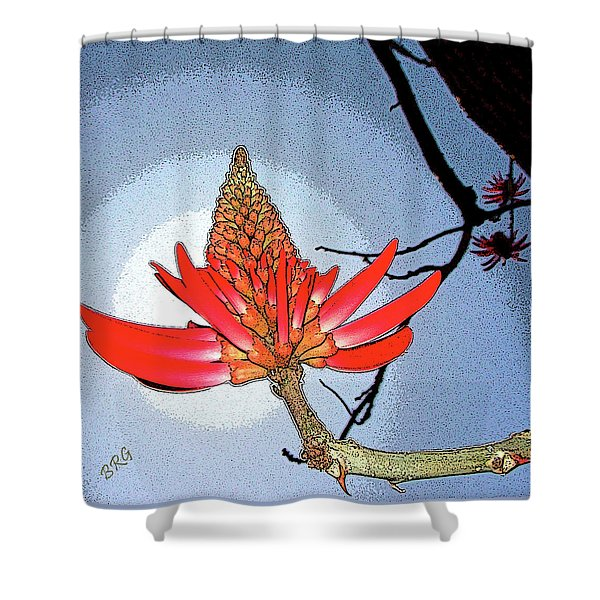 Coral Tree Shower Curtain by Ben and Raisa Gertsberg