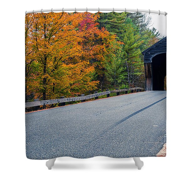 Corbin Covered Bridge Vermont Shower Curtain by Edward Fielding