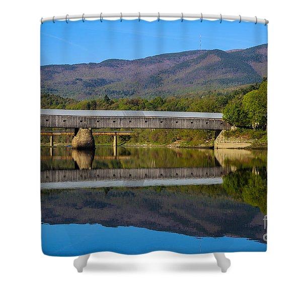 Cornish Windsor Covered Bridge Shower Curtain by Edward Fielding