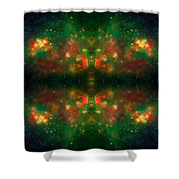 Cosmic Kaleidoscope 3 Shower Curtain by The  Vault - Jennifer Rondinelli Reilly