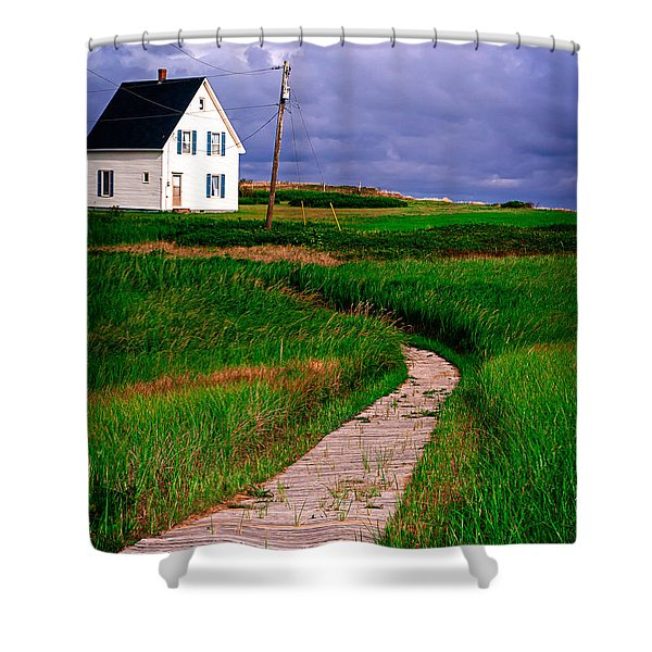 Cottage Among the Dunes Shower Curtain by Edward Fielding