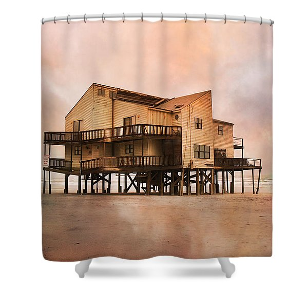 Cottage Of The Past Shower Curtain by Betsy C  Knapp