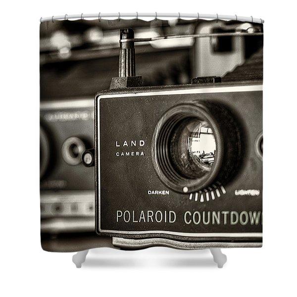 Countdown 70 Shower Curtain by Scott Norris