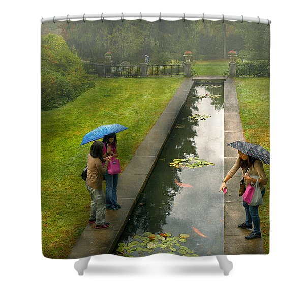 Country - A day out with the girls Shower Curtain by Mike Savad