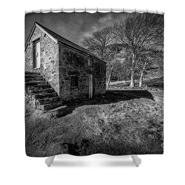 Country Cottage V2 Shower Curtain by Adrian Evans