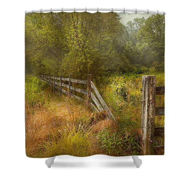 Country - Landscape - Lazy meadows Shower Curtain by Mike Savad