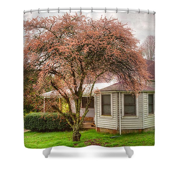 Country Pink Shower Curtain by Debra and Dave Vanderlaan