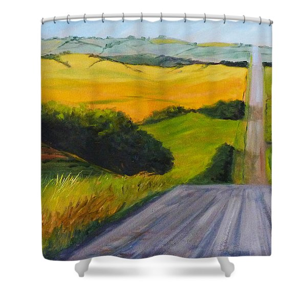 Country Road Shower Curtain by Nancy Merkle