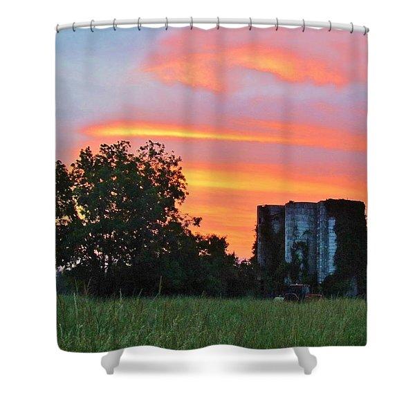 Country Sky Shower Curtain by Cynthia Guinn