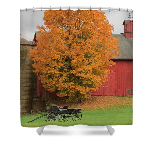 Country Wagon Shower Curtain by Bill  Wakeley