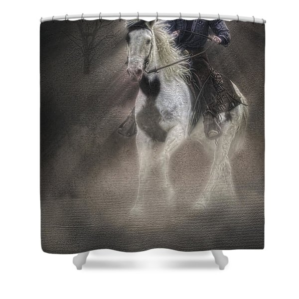 Cowgirl and Knight Shower Curtain by Susan Candelario