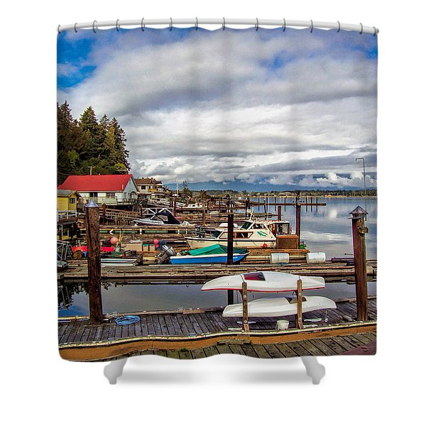 Cowichan Bay Vancouver Island Shower Curtain by Lynn Bolt