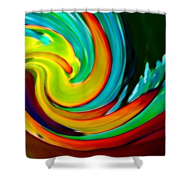 Crashing Wave Shower Curtain by Amy Vangsgard