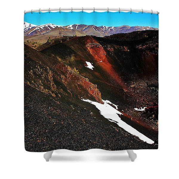 Craters of the Moon Shower Curtain by Benjamin Yeager