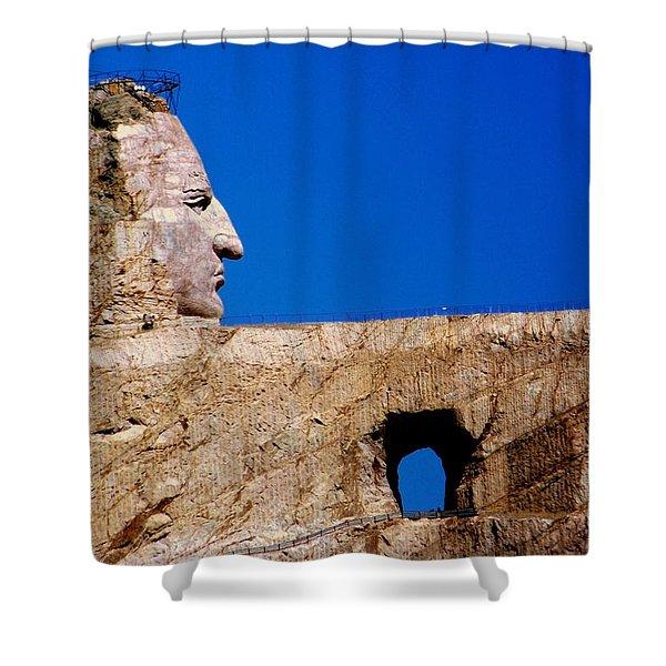Crazy Horse Shower Curtain by Karen Wiles