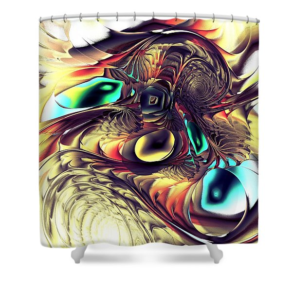 Creature Shower Curtain by Anastasiya Malakhova