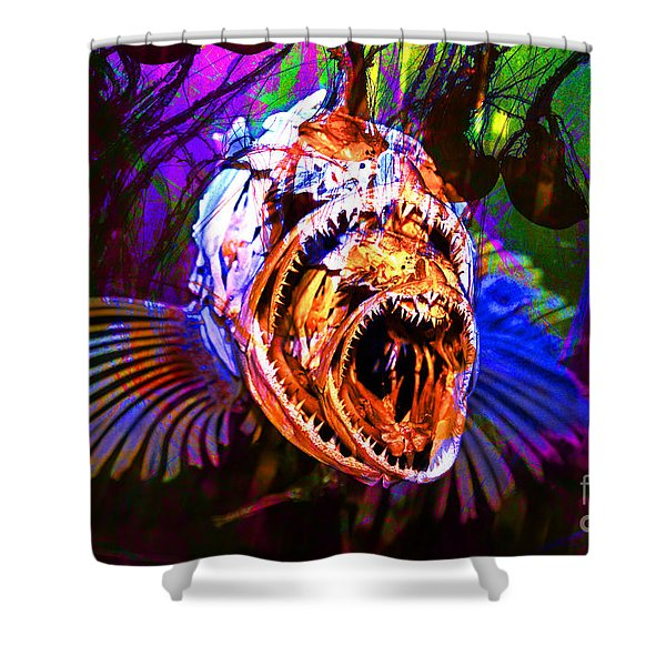Creatures Of The Deep - Fear No Fish 5D24799 v2 Shower Curtain by Wingsdomain Art and Photography