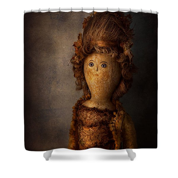 Creepy - Doll - Matilda Shower Curtain by Mike Savad