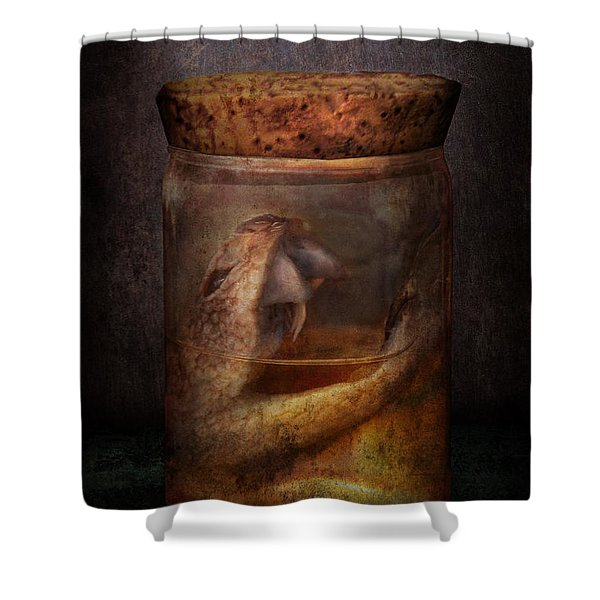 Creepy - Tonight we eat snake  Shower Curtain by Mike Savad