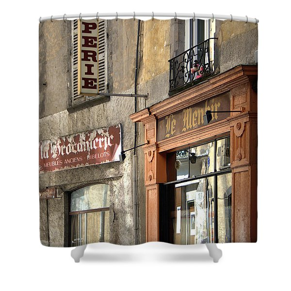 Creperie In Clermont Ferrand France Shower Curtain by Nomad Art And  Design