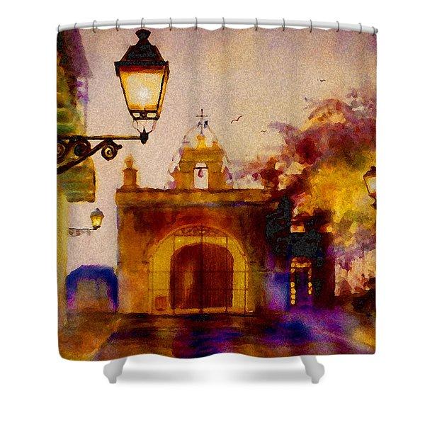 Cristo Chapel San Juan Shower Curtain by Estela Robles