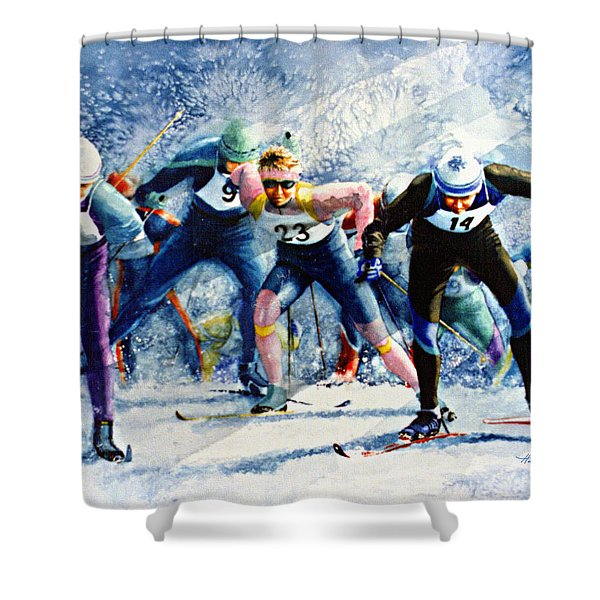 Cross-Country Challenge Shower Curtain by Hanne Lore Koehler