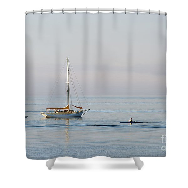 Crossing Paths Shower Curtain by Mike  Dawson