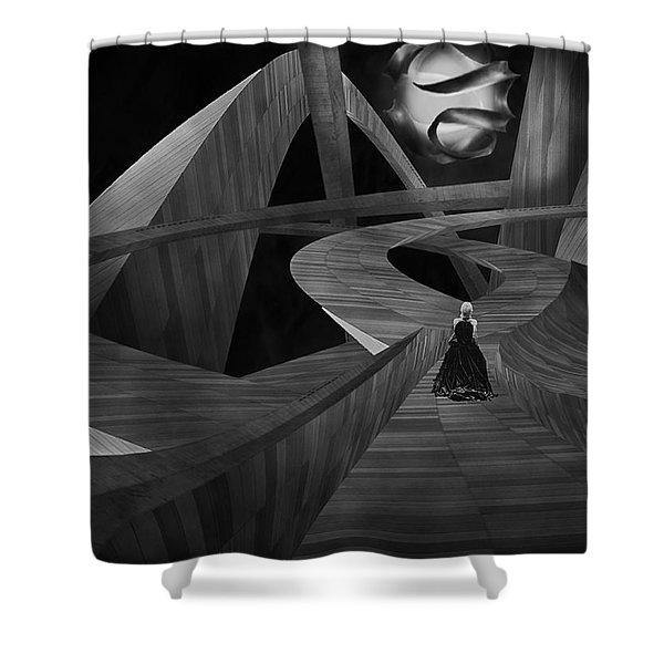 Crossroad Shower Curtain by Jack Zulli