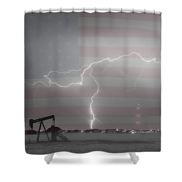 Crude Oil and Natural Gas Striking Across America BWSC Shower Curtain by James BO  Insogna
