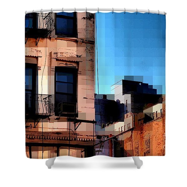 Up On The Roof Shower Curtain by Miriam Danar