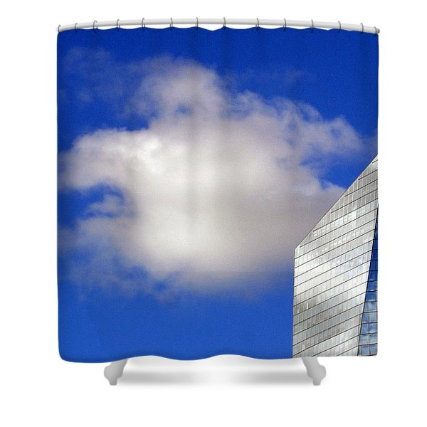 Cumulus and Cira Shower Curtain by Lisa  Phillips