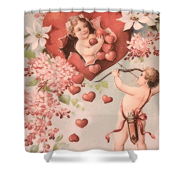 Cupid Shower Curtain by M and L Creations