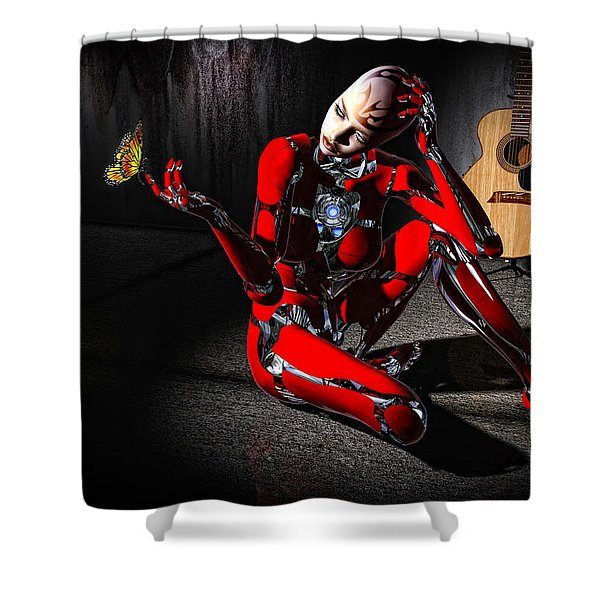 Curious Shower Curtain by Bob Orsillo