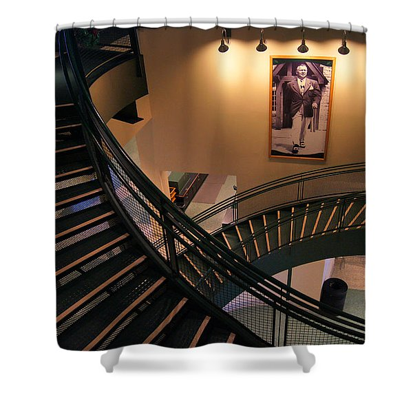 Curly's Stairway Shower Curtain by Bill Pevlor