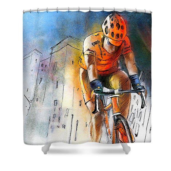 Cycloscape 01 Shower Curtain by Miki De Goodaboom