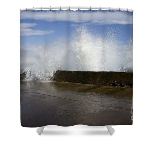 Da Wave Shower Curtain by Sharon Mau