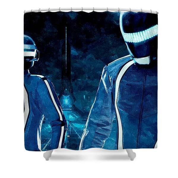 Daft Punk In Tron Legacy Shower Curtain by Florian Rodarte