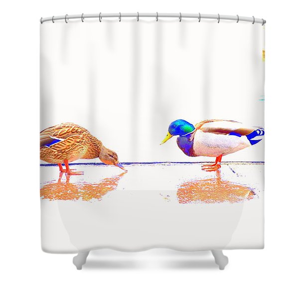 Daisy And You Shower Curtain by Hilde Widerberg