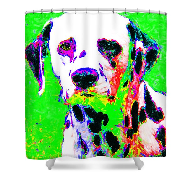 Dalmation Dog 20130125v3 Shower Curtain by Wingsdomain Art and Photography