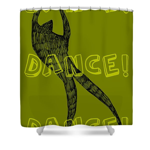 Dance Dance Dance Shower Curtain by Michelle Calkins