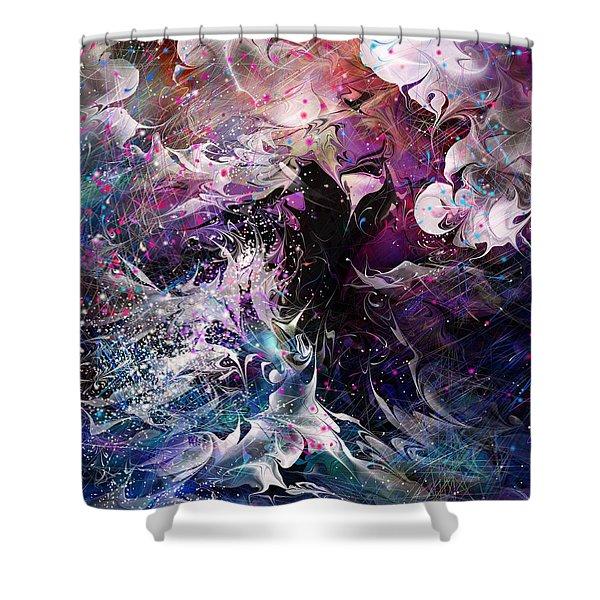 Dance in the Seas Shower Curtain by Rachel Christine Nowicki